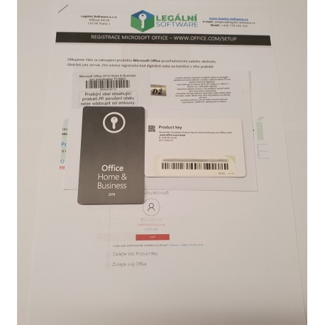 Microsoft Office 2019 Home & Business (pro podnikatele) PC/MAC